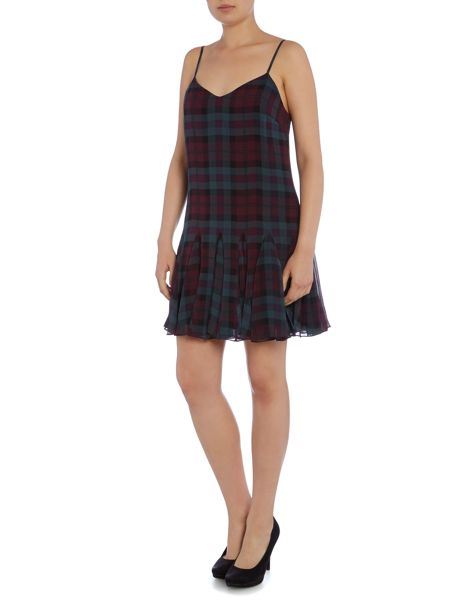 Polo Ralph Lauren Tanija silk tartan strap dress
