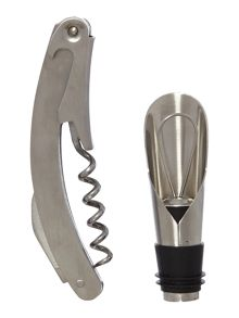 Bottle Pourer & Corkscrew