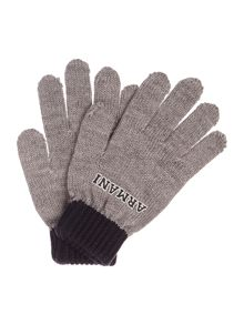 Armani Junior Boys Logo Gloves