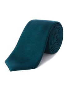 New & Lingwood Haslett solid herringbone silk tie