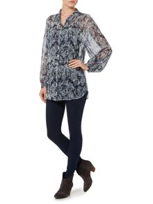 Linea Weekend Dawn Batwing Blouse Print Top
