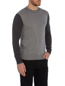 Armani Jeans Crew Neck Contract Sleeve Sweat Jumper