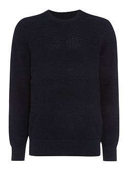 Men's Howick Lincoln Textured Crew Neck Jumper