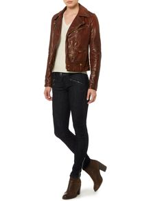 Asta burnout leather jacket