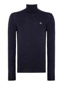 Vivienne Westwood Roll Neck Logo Knitted Jumper