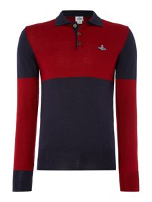 Vivienne Westwood Longsleeve Colour Block Knitted Polo