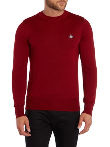 Crew Neck Logo Knitted Jumper
