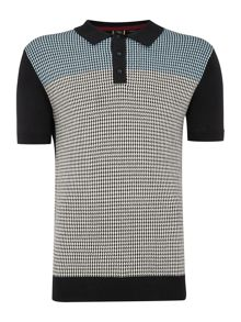Merc Parish Dogtooth Knitted Polo