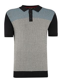 Parish Dogtooth Knitted Polo