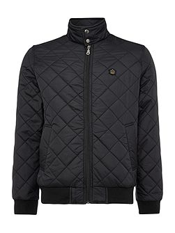 Casual Quilted Full Zip Harrington Jacket