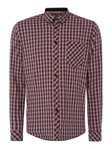 Merc Roswell Multi Checked Classic Collar Shirt