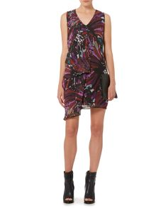 Label Lab Plume print hitch dress