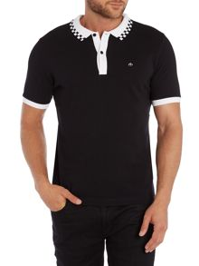 Merc Nova Checkerboard Tipping Polo Shirt
