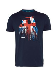 Merc Oliver Union Jack Scooter Print T-Shirt