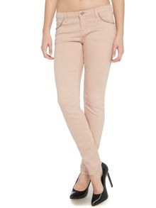 J06 Low rise super skinny front stud jean in nude