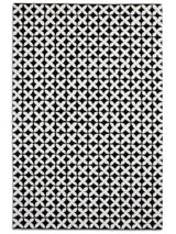 Plantation Rug Co. Geometric 100% Wool Rug - 120x170 Black/White