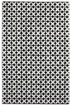 Plantation Rug Co. Geometric 100% Wool Rug - 150x230 Black/White