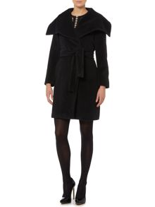 Cashmere wool belted coat