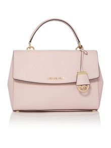 Ava pale pink medium satchel bag