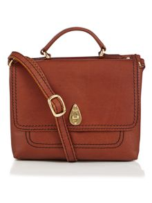 Smooth tan small cross body bag