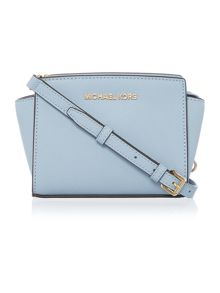 Selma pale blue mini cross body bag