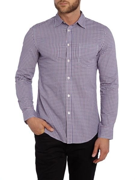 Benetton Check Classic Fit Long Sleeve Button Down Shirt