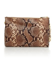 Jetset Chain taupe python cross body bag