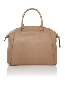 Riley taupe large bowler bag