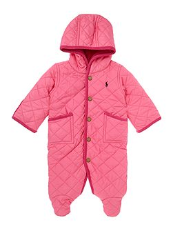 Polo Ralph Lauren Girls All-In-One Quilted Snowsuit