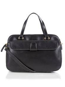 Tula Smooth black cross body tote bag