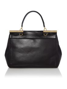 Marlow black large satchel bag