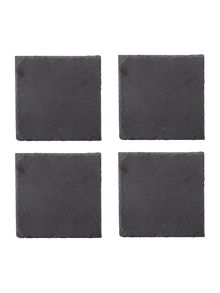 Gray & Willow Slate coasters set of 4