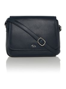 Tula Nappa navy flap over cross body bag