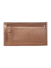 Violet large brown flap over purse