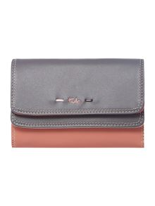 Violet grey flap over purse