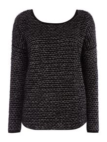Label Lab Low back textured knit