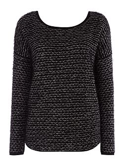 Low back textured knit