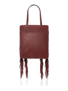 Kenneth Cole Prince street burgundy tote bag