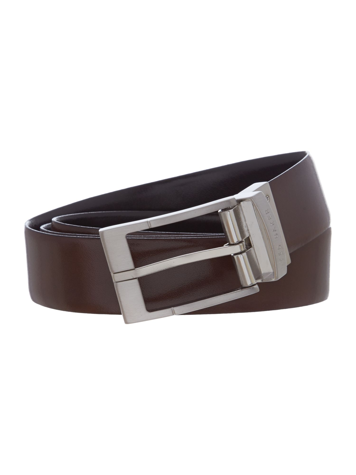 Ted Baker Connary Casual Reversible Leather Belt Black