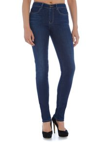 Armani Jeans J18 High rise slim jean in mid wash