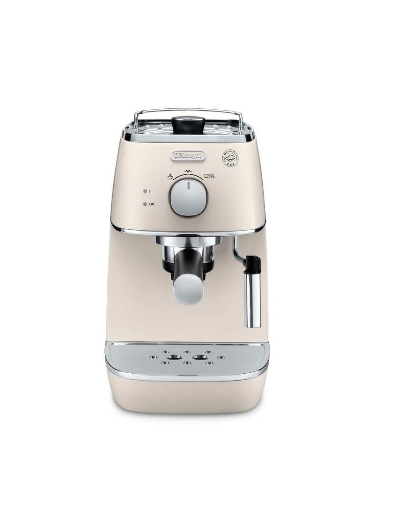Delonghi Distinta Pump Espresso Machine Pearl White
