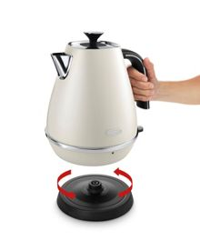 Delonghi Distinta 1.7L Kettle Pearl White
