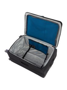 Linea Spacelite II black 8 wheel soft large suitcase
