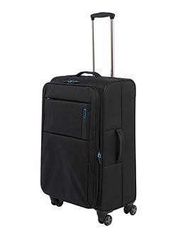 Spacelite II black 8 wheel soft medium suitcase