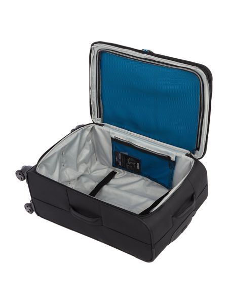 Linea Spacelite II black 8 wheel soft medium suitcase