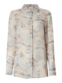 Linea Weekend West Coast Wave Print Shirt