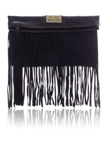 Biba January fringed clutch handbag