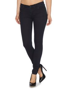 J23 Mid rise skinny push up stud front jean