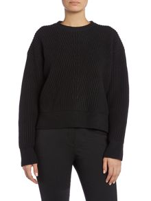 Acne Long Sleeved Ribbed Zip Knit Jumper
