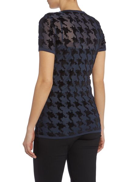 Acne Short Sleeved Jacquard Top